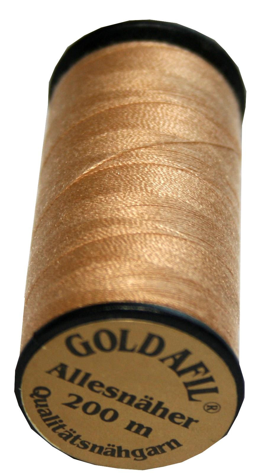 Nähmaschinen Nähgarn Polyester Ne 40/2 beige braun 200 m (1036)