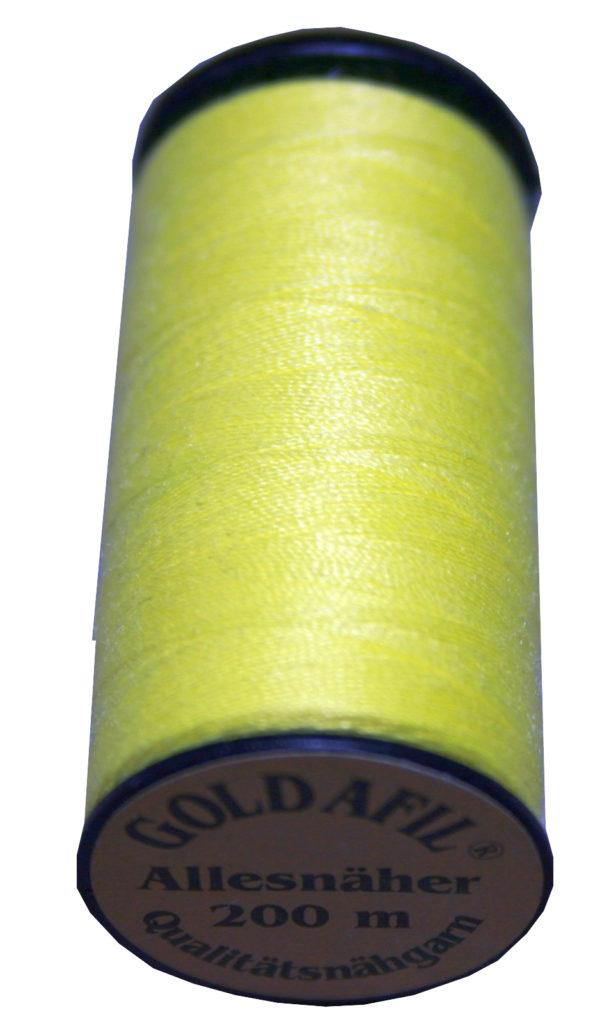 Nähmaschinen Nähgarn Polyester Ne 40/2 gelb 200 m (1077)