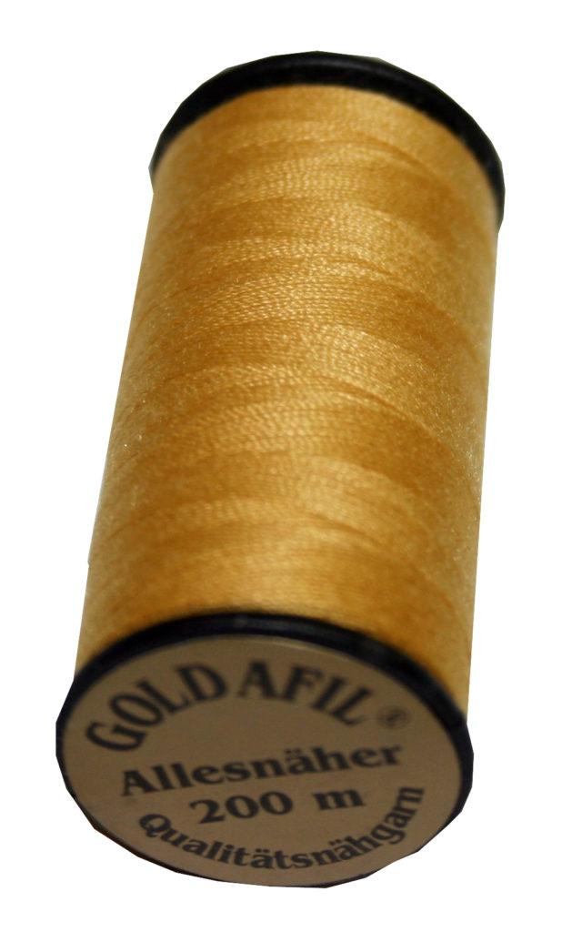 Nähmaschinen Nähgarn Polyester Ne 40/2 gold sand 200 m (1085)