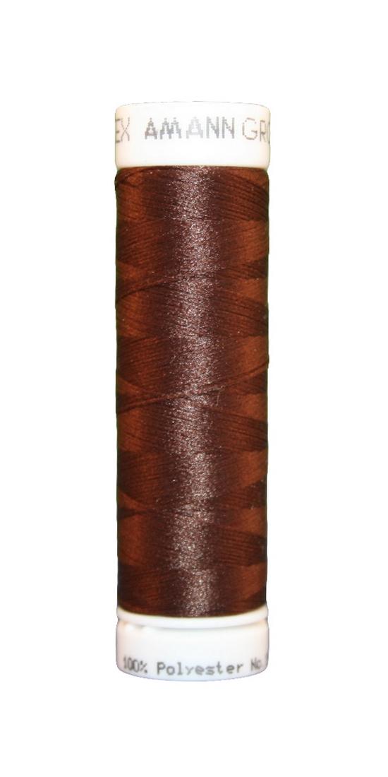Elastischer Zwirn Polyester ASPOTEX 120 Amann 100m braun (0264)