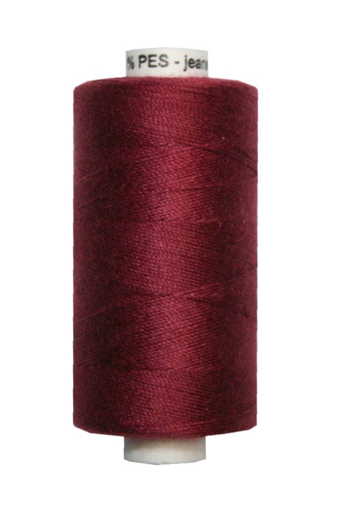 Jeansgarn UNIPOLY 30*3 Polyester 200m dunkelweinrot (0347)