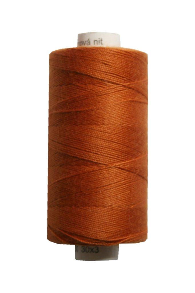 Jeansgarn UNIPOLY 30*3 Polyester 200m orange braun terracotta (0273)