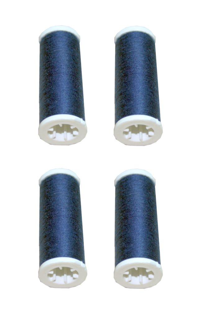 Nähmaschinen Nähgarn 400m 4 x 100m Polyester 40/2 blau dark (1027)