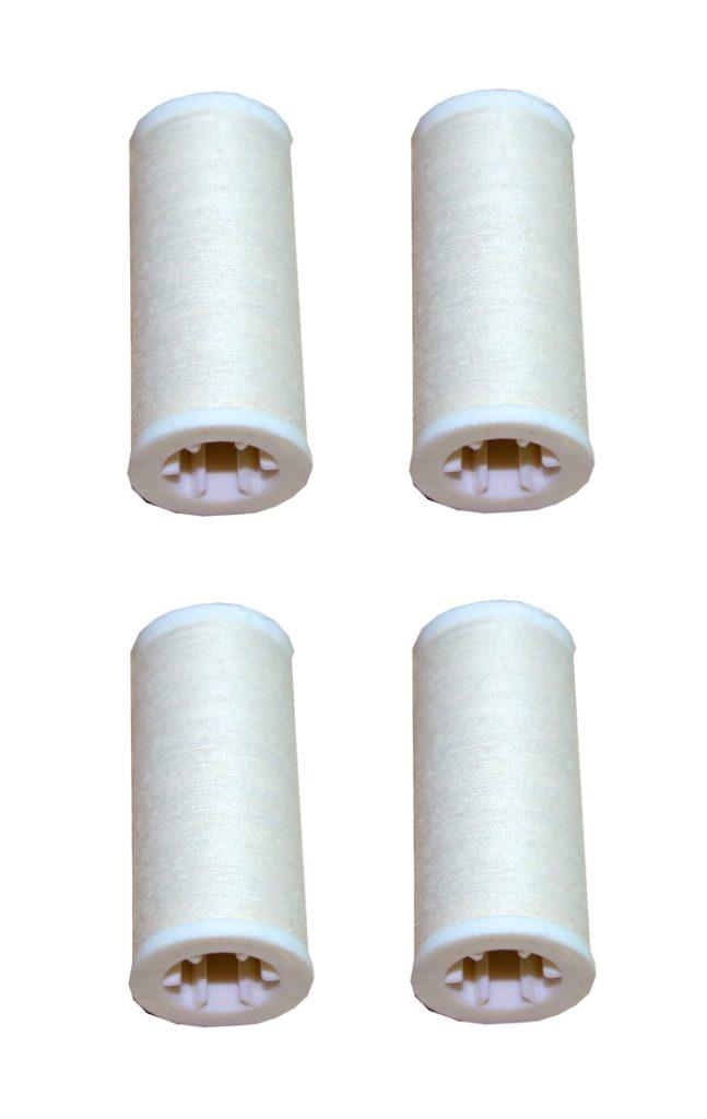 Nähmaschinen Nähgarn 400m 4 x 100m Polyester 40/2 beige creme (1031)