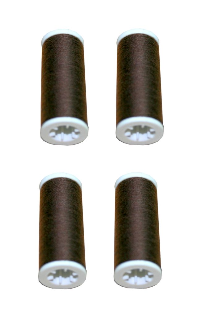 Nähmaschinen Nähgarn 400m 4 x 100m Polyester 40/2 braun (1042)
