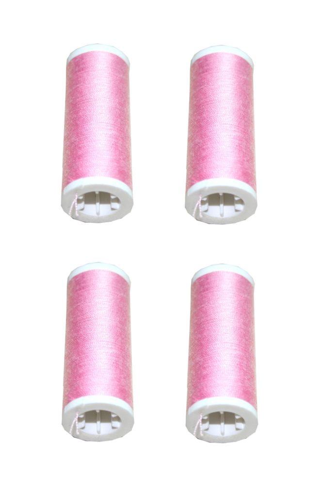 Nähmaschinen Nähgarn 400 m 4 x 100 m Polyester 40/2 rosa (1061)