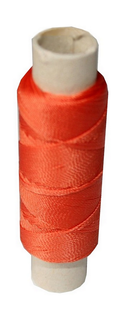 Sattlergarn Zwirn 14x2x3 Polyester 50 m orange Ø 0,3mm (0003)
