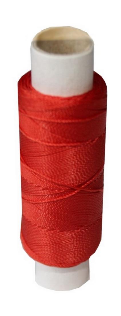 Sattlergarn Zwirn 14x2x3 Polyester 50 m rot Ø 0,3mm (0004)