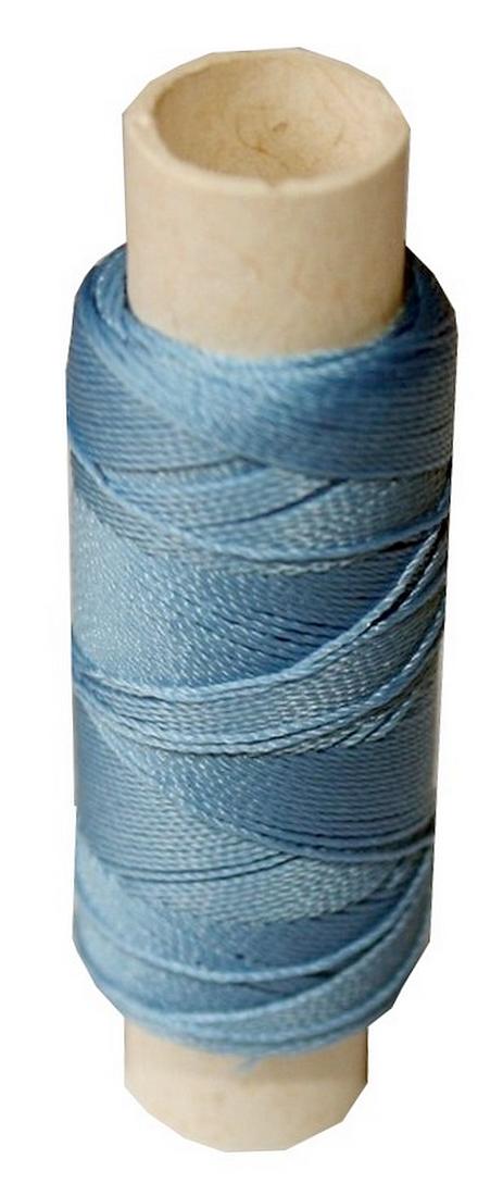 Sattlergarn Zwirn 14x2x3 Polyester 50m hellblau Ø 0,3mm (0010)
