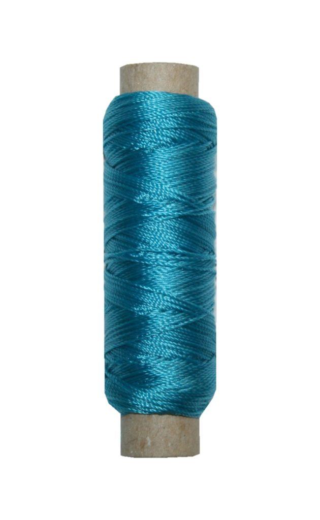Sattlergarn Zwirn 14x2x3 Polyester 50 m türkis Ø 0,3mm (0016)