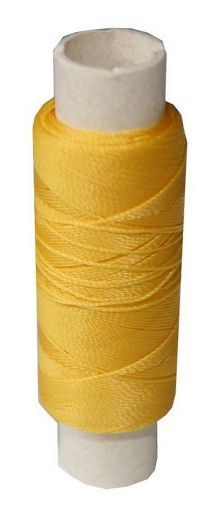 Sattlergarn Zwirn 14x2x3 Polyester 50 m gelb Ø 0,3mm (0097)