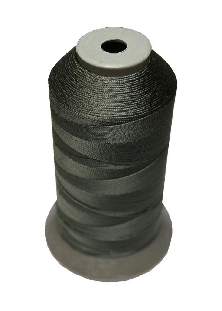 Sattlergarn Zwirn 14x2x3 Polyester 1000m dunkelgrau Ø 0,3mm (2871)