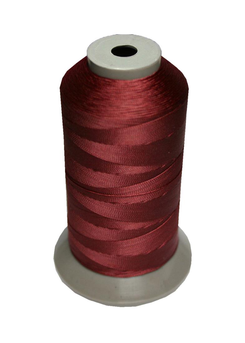 Sattlergarn Zwirn 14x2x3 Polyester 1000m bordeaux Ø 0,3mm (5010)