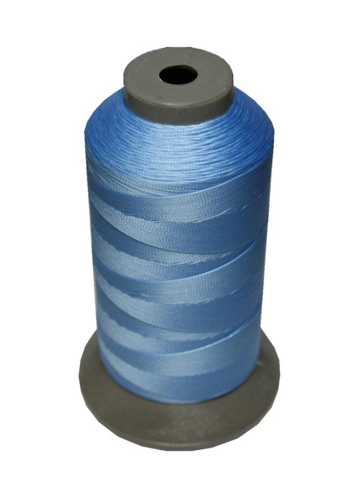 Sattlergarn Zwirn 14x2x3 Polyester 1000m hellblau Ø 0,3mm (5029)