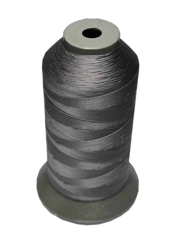 Sattlergarn Zwirn 14x2x3 Polyester 1000m grau-schwarz Ø 0,3mm (5126)