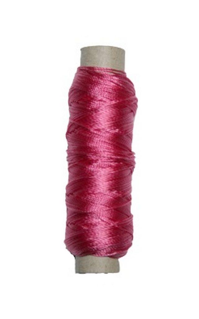 Sattlergarn Zwirn 14x2x3 Polyester 50 m pink Ø 0,3mm (5011)