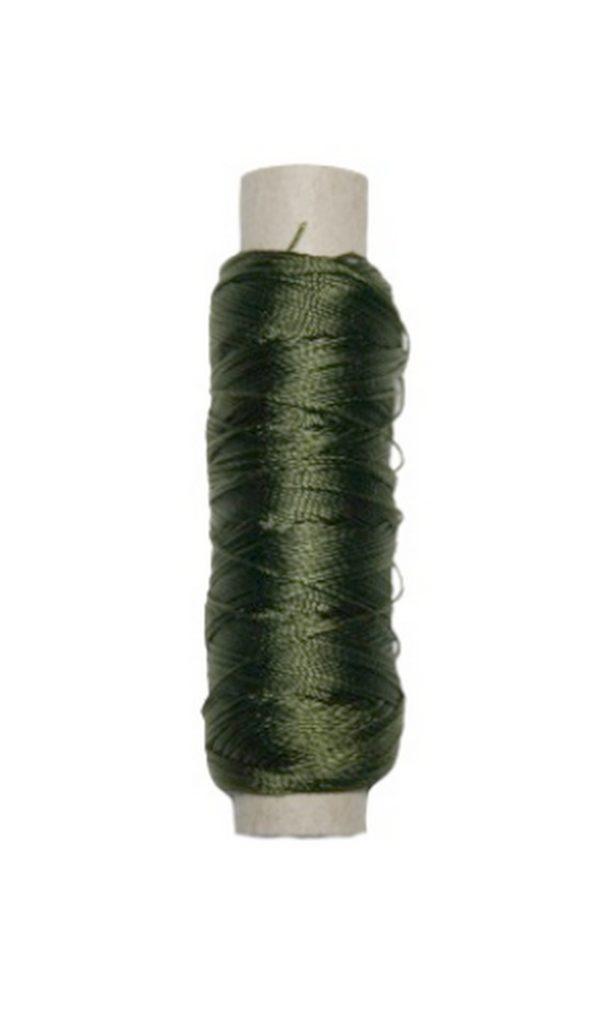 Sattlergarn Zwirn 14x2x3 Polyester 50 m oliv Ø 0,3mm (5030)