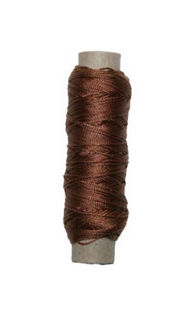Sattlergarn Zwirn 14x2x3 Polyester 50 m braun Ø 0,3mm (5048)