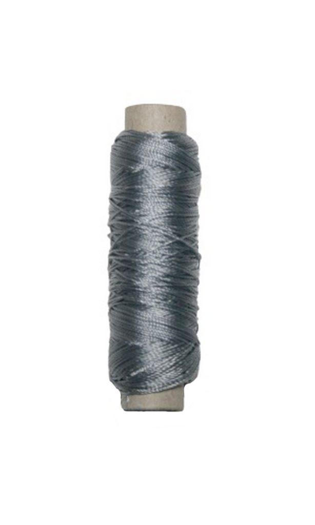 Sattlergarn Zwirn 14x2x3 Polyester 50 m silbergrau Ø 0,3mm (5055)