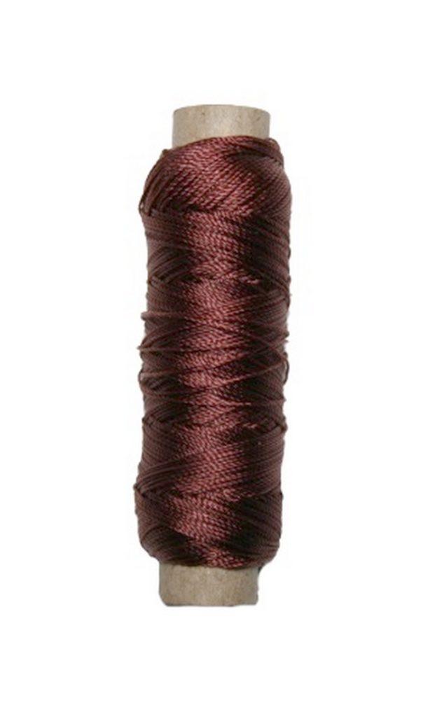Sattlergarn Zwirn 14x2x3 Polyester 50 m braun Ø 0,3mm (5041)
