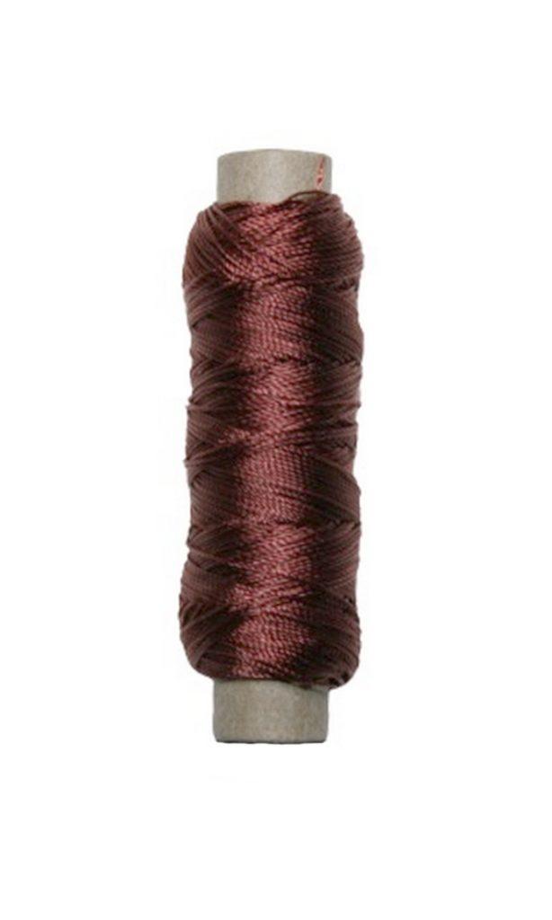 Sattlergarn Zwirn 14x2x3 Polyester 50 m braun Ø 0,3mm (5047)