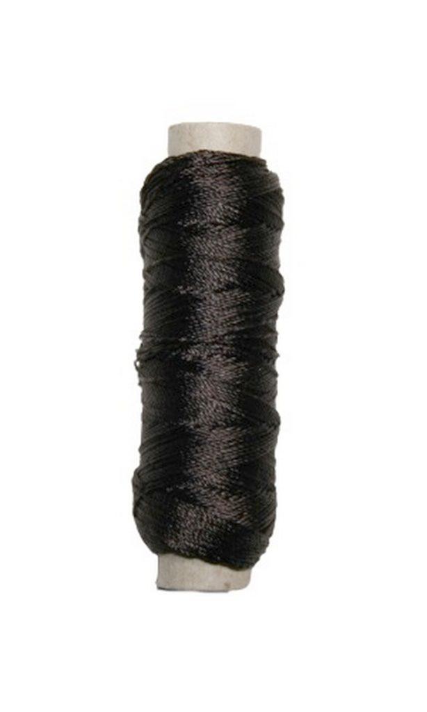 Sattlergarn Zwirn 14x2x3 Polyester 50 m dunkelbraun Ø 0,3mm (5551)