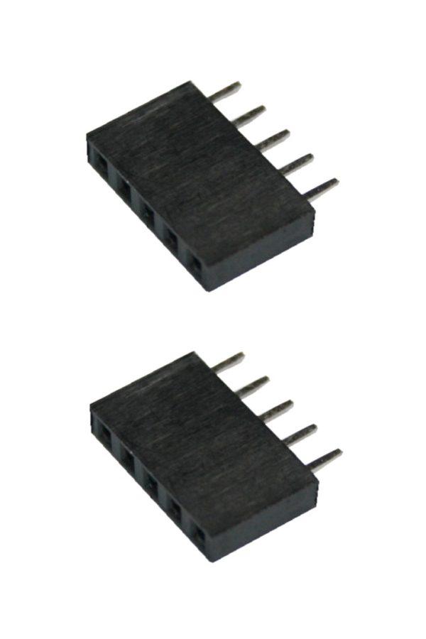 Buchsenleiste 1X5 5Pin einreihig Arduino Raspberry Pi 2 Stück (0074)
