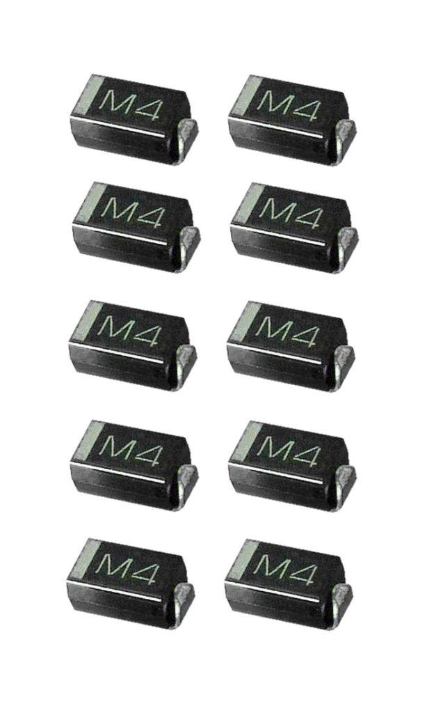 1N4004 SMD Diode Gleichrichterdiode 1A 400V 10 Stück (0000)