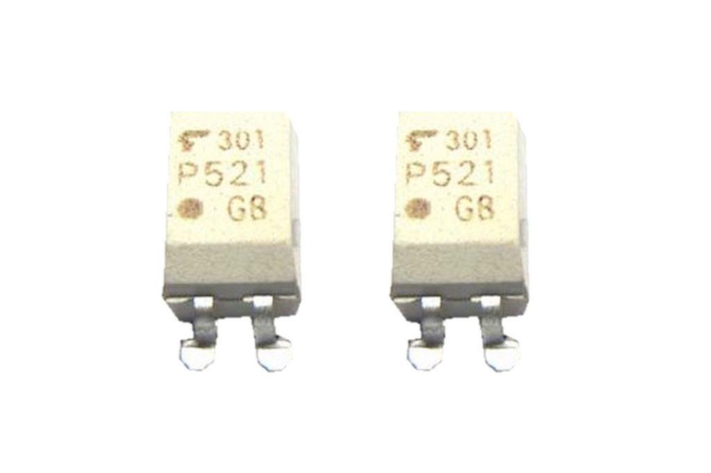 TLP521 SMD Optokoppler ein Kanal NPN SOP-4 2 Stück (0015)