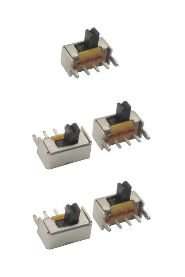 Mini Schiebeschalter Schalter SK12D07 3pin ON-OFF rechtwinklig 5 Stück (0001)