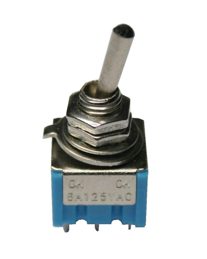 Mini Kippschalter Schalter 2xON-ON 6PIN AC 6A/125V (0013)