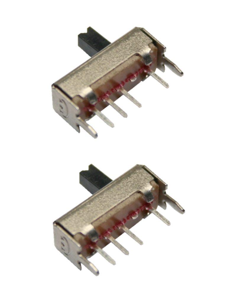 Mini Schiebeschalter Schalter SS13D07VG4 4pin 3xON 2 Stück (0017)