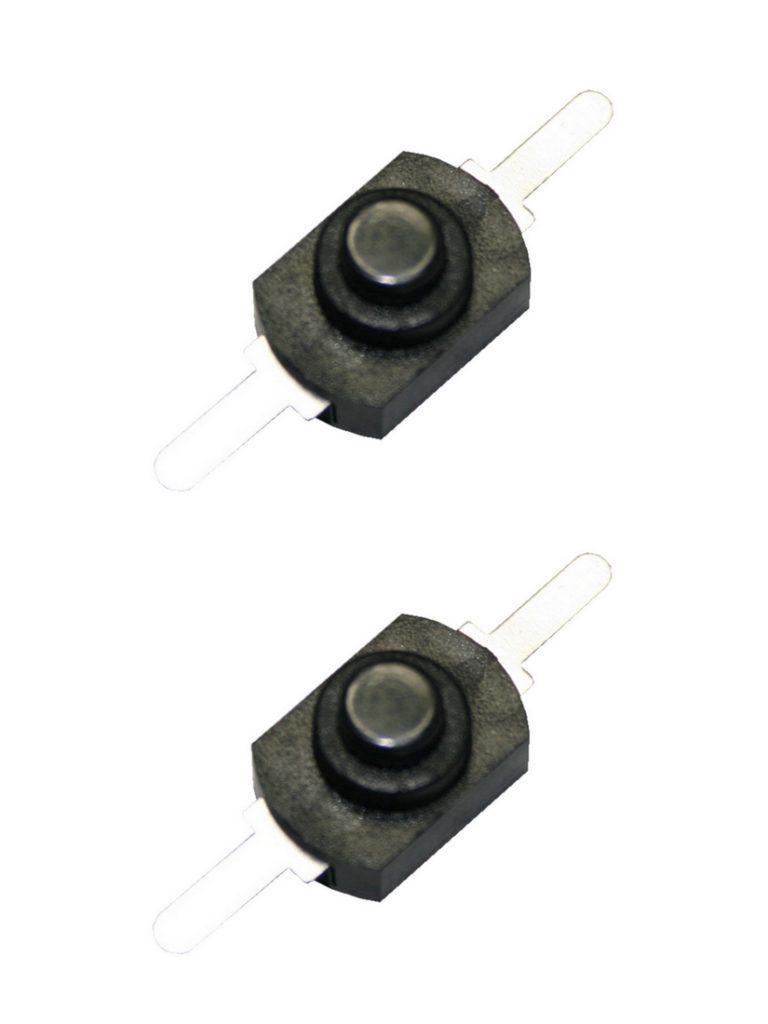 Druckschalter Schalter 1208YD 2pin ON-OFF 2 Stück (0018)