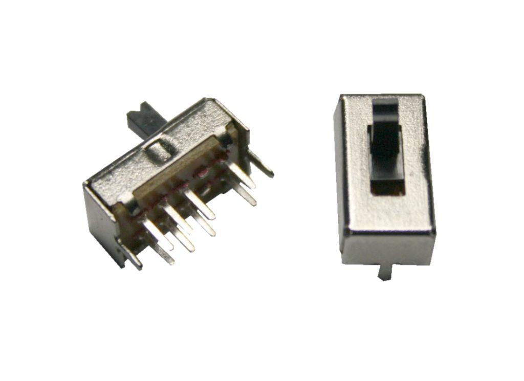 Mini Schiebeschalter Schalter SS-23D07VG3 8pin 3Positionen 2 Stück (0023)