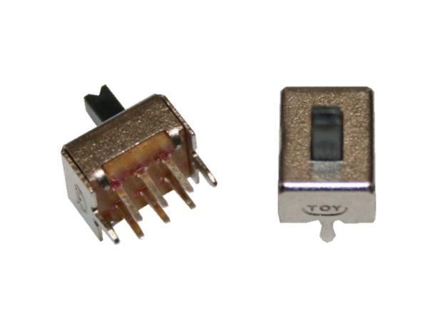 Mini Schiebeschalter Schalter SS22D07 6pin 2xON-OFF 2 Stück (0038)