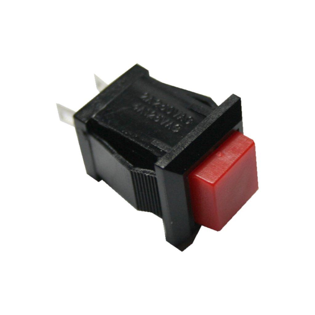 Drucktaster Taster DS-430 quadrastisch mit rotem Knopf ON-OFF (0039)