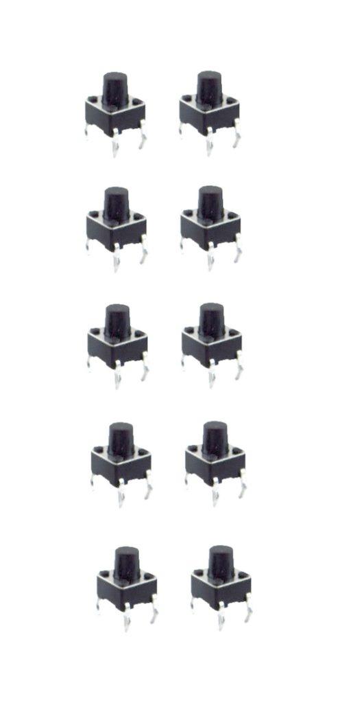 Minitaster Drucktaster Microtaster Taster 6x6x5mm ON-OFF 10 Stück (0047)