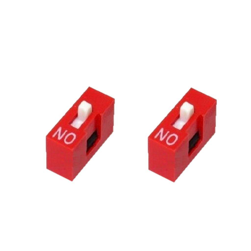 DIP-Schalter Wahlschalter Schalter 2pin 1xON-OFF 2 Stück (0048)