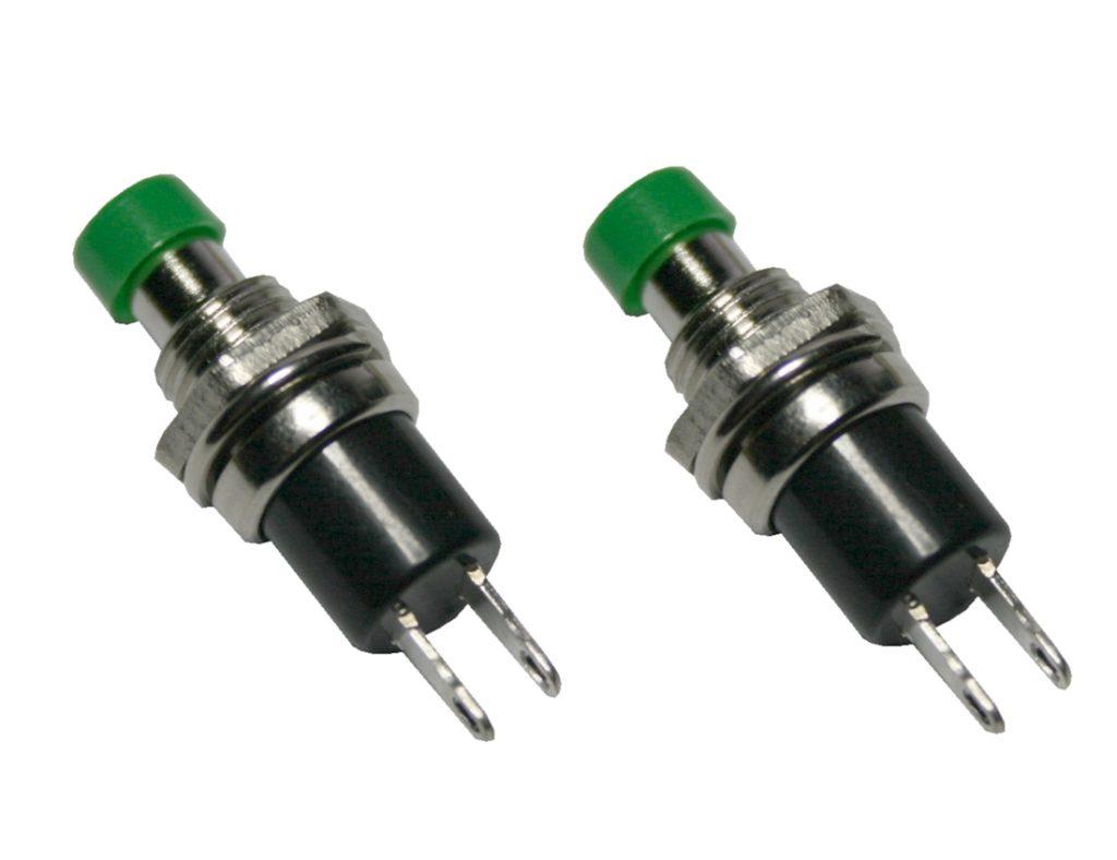 Miniatur-Taster Taster Minitaster Drucktaster 1xON-OFF grün 2 Stück (0063)