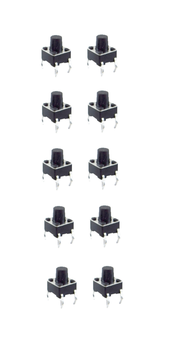 Minitaster Drucktaster Microtaster Taster 6x6x4,3mm 1xÖffner 10 Stück (0066)