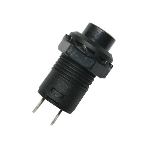 Druckschalter Schalter rund mit schwarzem Knopf ON-OFF (0068)