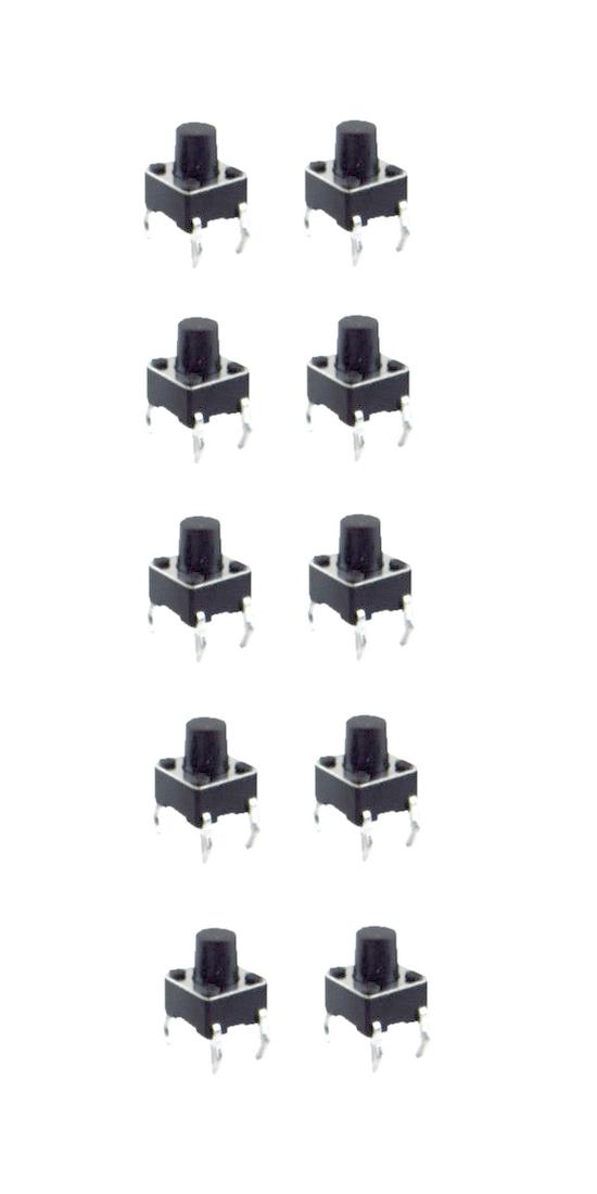 Minitaster Drucktaster Microtaster Taster 6x6x6mm ON-OFF 10 Stück (0089)