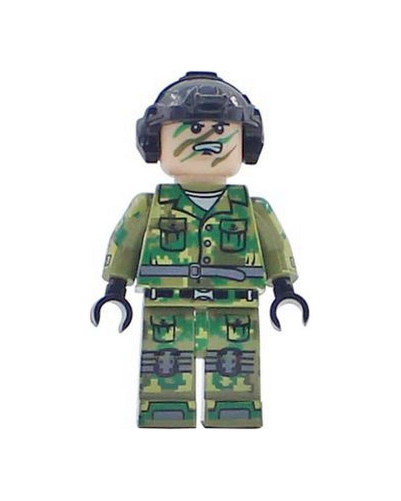 Steckfigur Soldat in Tarnanzug Militär Uniform Swat (0001)