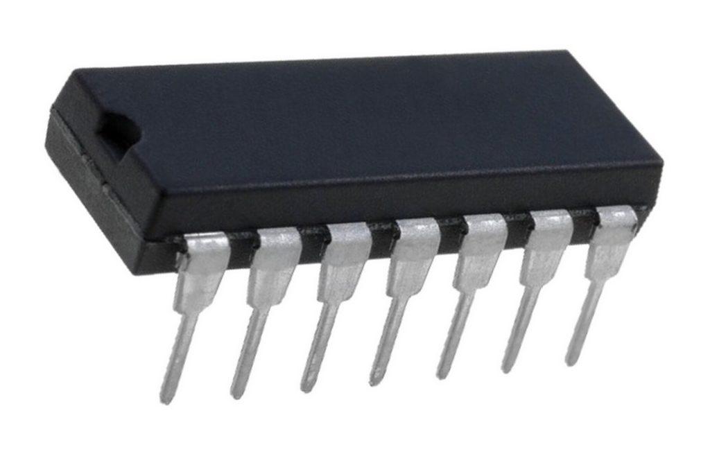 74HC00N 4 NAND-Gatter mit je 2 Eingängen DIP 14 (0009)