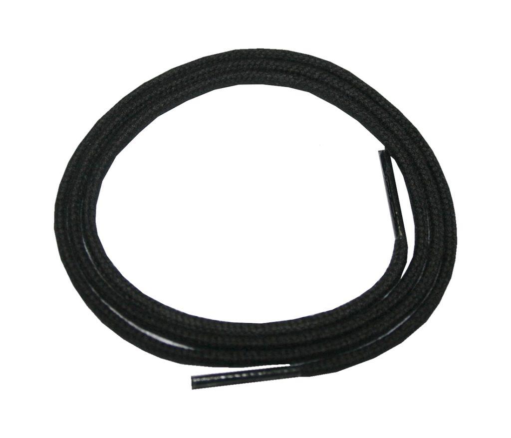 Schuhband Schnürsenkel 1 Paar Baumwolle 75 cm rund schwarz (0001)