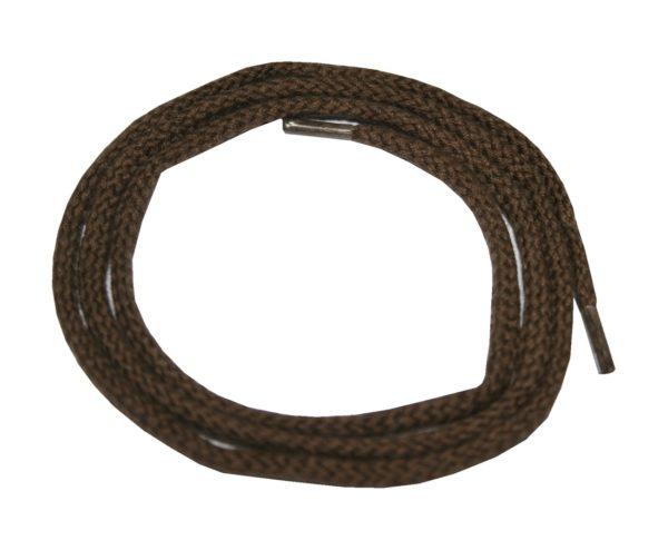 Schuhband Schnürsenkel 1 Paar Baumwolle 75 cm rund braun (0003)