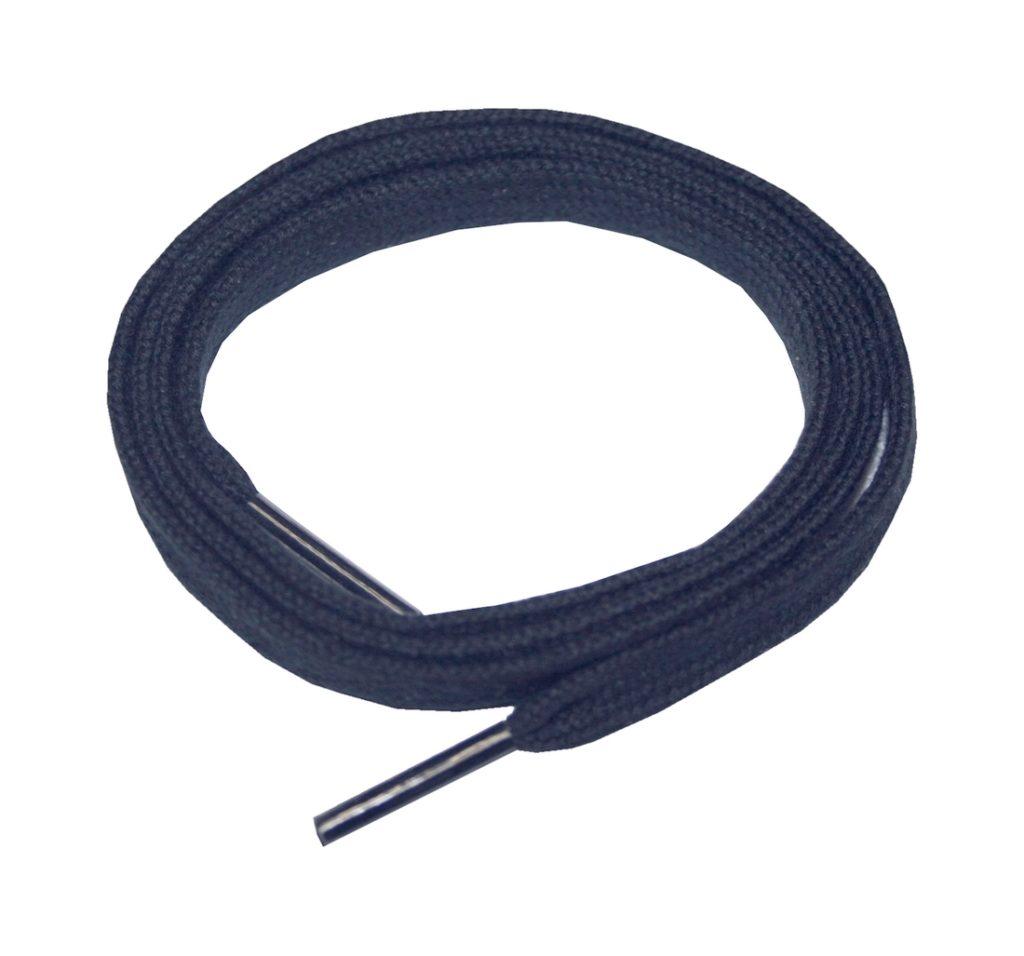 Schuhband Schnürsenkel 1 Paar Baumwolle 50 cm 5 mm flach blau (0005)