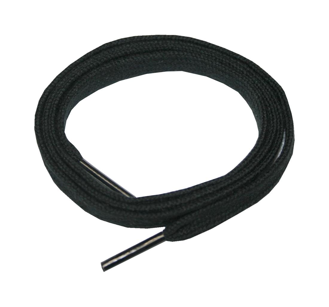 Schuhband Schnürsenkel 1 Paar Baumwolle 90 cm 9 mm flach schwarz (0014)