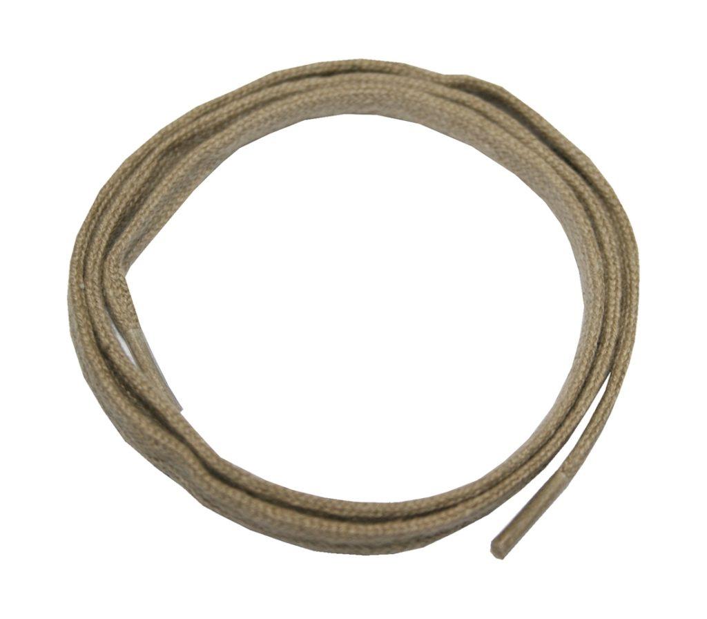 Schuhband Schnürsenkel 1 Paar Baumwolle 60 cm 7 mm flach beige (0018)
