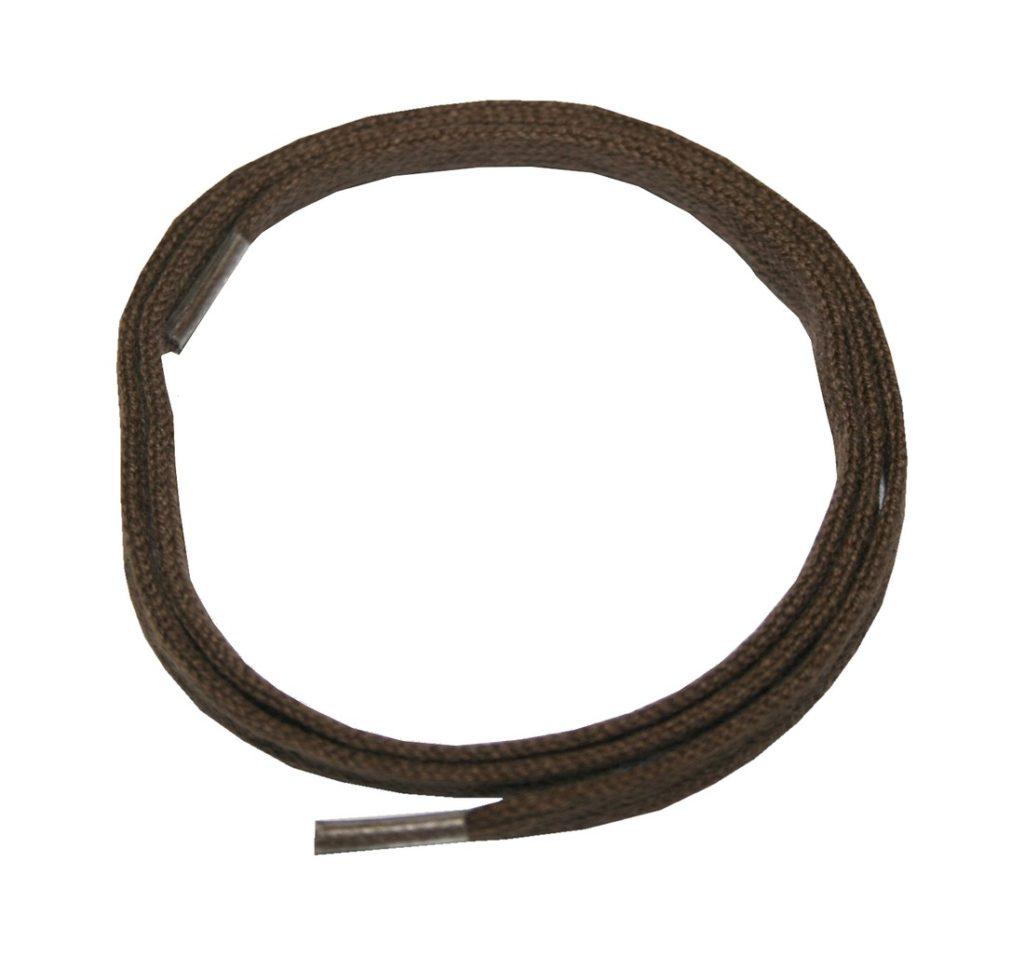Schuhband Schnürsenkel 1 Paar Baumwolle 90 cm 7 mm flach braun (0023)